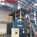 CE approved roller conveyor shot blasting machine price with siemens motor