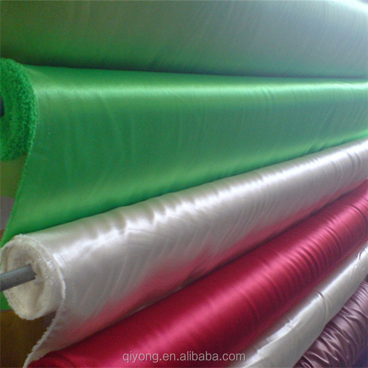Manufacture Wholesale Dyed 100% polyester Shiny Satin Fabric 75D*100D at Good Price for Wedding,Decoration,Upholstery