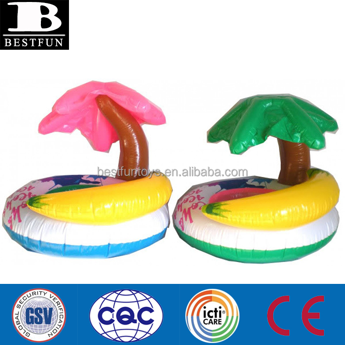 Safety Inflatable palm tree baby float pentagram learn to swim baby Paradise rider baby swim seat rider