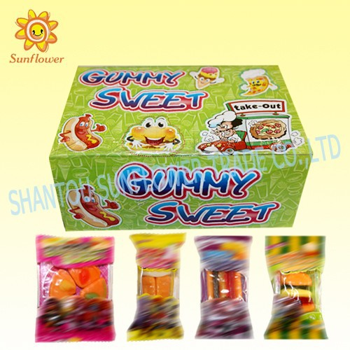 Fast Food Hamburger,Pizza,Hot Dog,Ice cream Series Gummy Candies