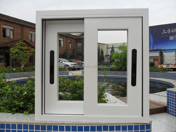 Latest design PVC casement window,double glass pvc window