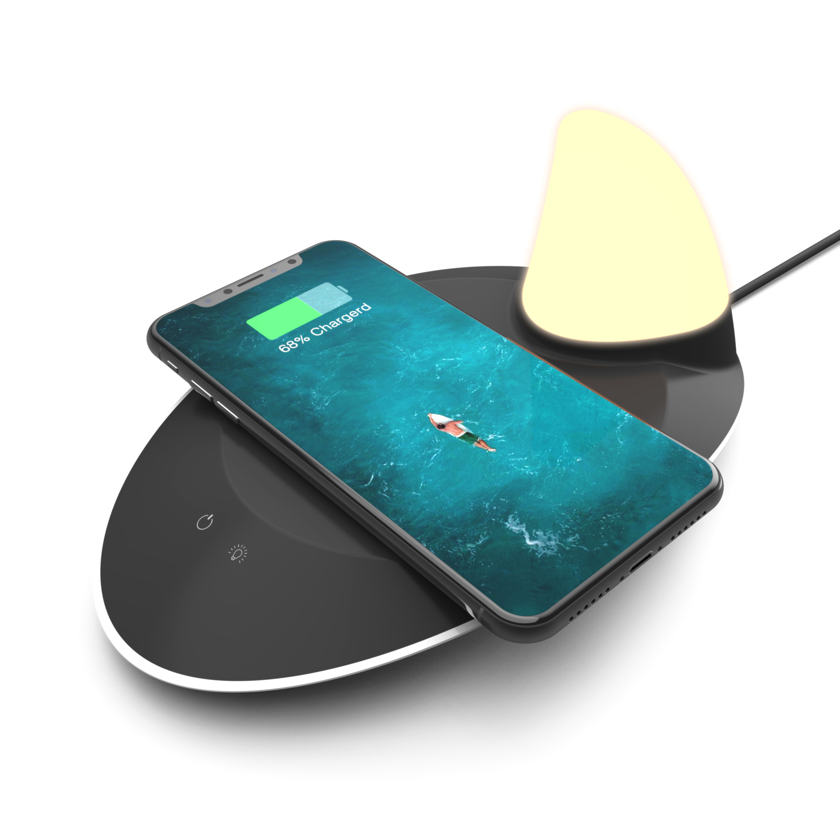 Universal Qi Wireless Charger For Note9 Wireless Charging Pad S9 S8 Wireless Charger Pad With <strong>LED</strong> <strong>Light</strong>