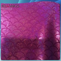 lycra polyester spandex fabric with fish scale print