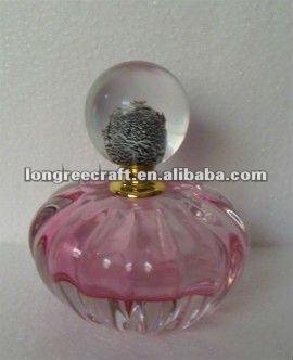 Hand Blown Egypian Silver Cap Glass Perfume Bottles