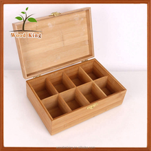 Custom Logo Made In China Yiwu China Market Alibaba Manufacturer Many Grid Bamboo Packing Gift Wooden Essential Oil Box