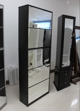 reclaimed shoe rack with mirror hot sell home furniture