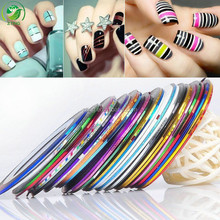 Hot ZTING Mixed Colors Rolls Striping Tape Line Nail Art Tips beauty Decoration Sticker Nails Care Art Accessories