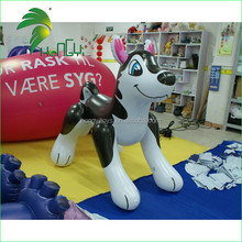 Hot Sell Advertising Lovely Inflatable Cartoon Husky / dog model for Sale