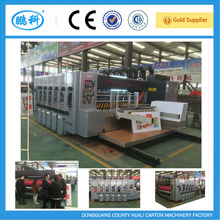 corrugated carton box printing slotting machine price , with doctor blade and the ceramic anilox rollers