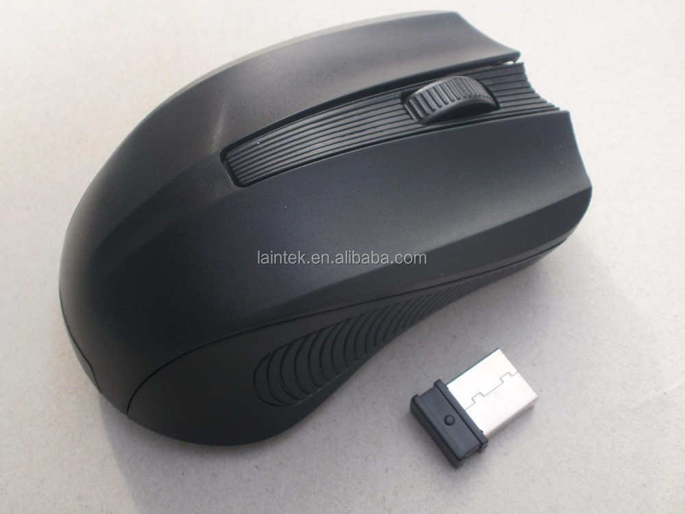 2016 cheapest computer unique 2.4ghz black personalized custom logo wireless mouse