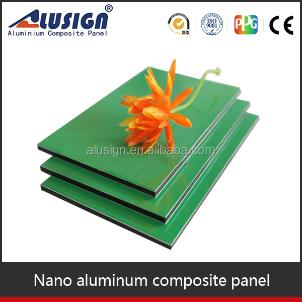 Alusign anti-corrosion nano PVDF coating exterior wall cladding acp aluminum composite panel