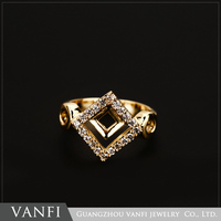 Latest cheap gold plating fashion jewelry gold finger ring designs