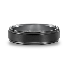 8MM Men's Cobalt Free Black Tungsten Carbide Ring, High Quality Tungsten Ring with Black Carbon