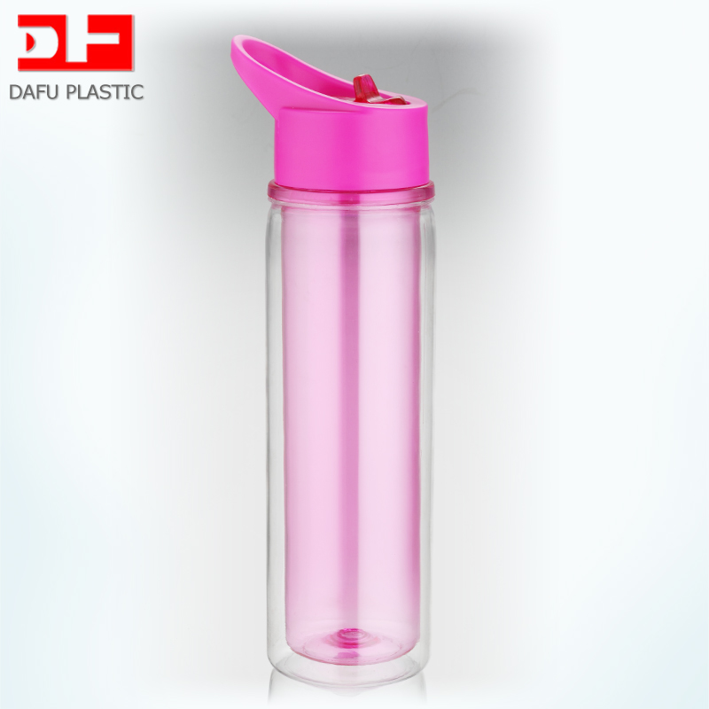 550ml pc water bottle <strong>scrap</strong> with handle double wall