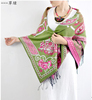 Grass Green Jacquard Style Women Dress Paisley Wraps and Scarves