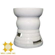 Unique style white color special design cute porcelain candle holder