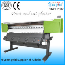 sticker cutting and printing machine / Contour cut vinyl cutting plotter with USB interface/35'' step motor plotter with CE