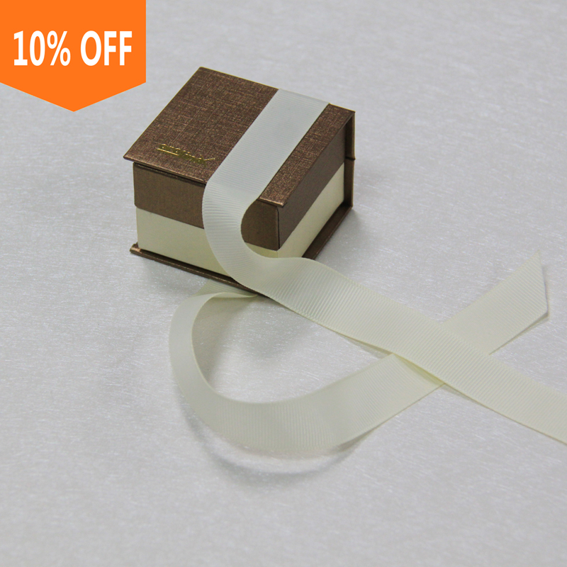 custom logo printed luxury paper jewelry box paper ring box