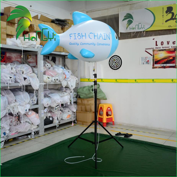 Charming Outdoor Display Inflatable Advertising LED Standing Fish Balloon
