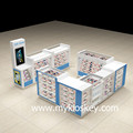 Retail mobile cell phone accessories display kiosk with phone display counter on sale