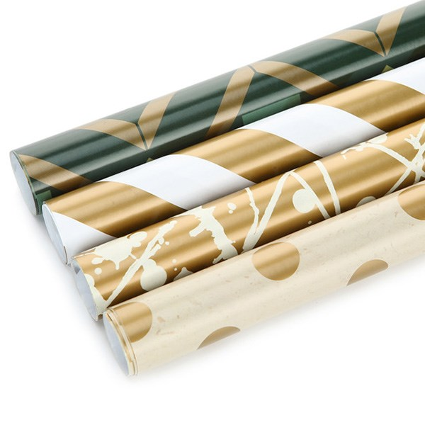 Customized Printed High-end High Quality Fancy patttern Wrapping Paper Roll