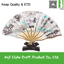 High quality ladies bamboo silk dance hand fan for hot sell