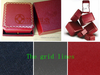 Embossed paper with lines type red leatherette paper bangal grain for cartier boxes