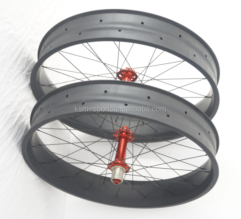 good quality 26er fat wheel carbon fat bike wheelset carbon fiber wheel fat bike