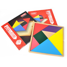 gift set Tangram jigsaw puzzle wooden education toy