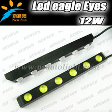 6pcs Epistar Led eagle eyes light 12W one set 8000K led daytime running light universal DRL