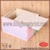Popular unfinishing wooden playing card box wholesale