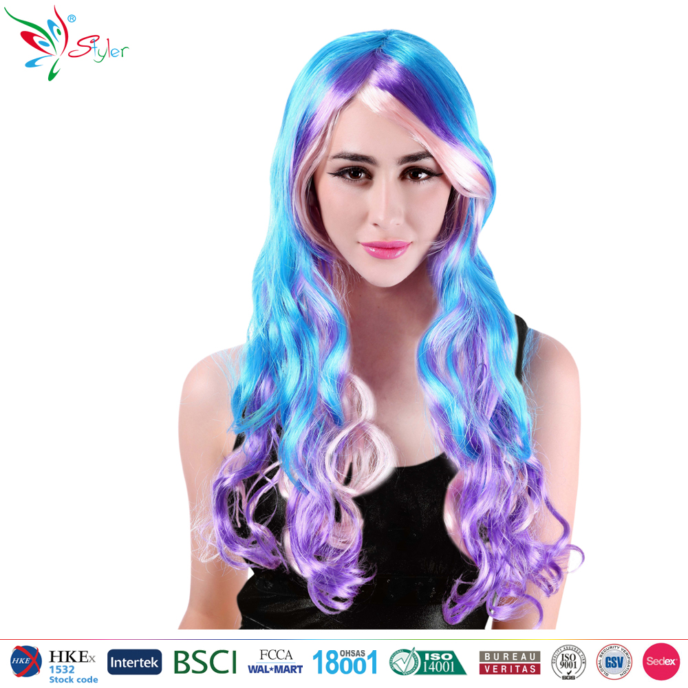 Styler Brand synthetic hair wigs fantasy party costume colour long lolita wig