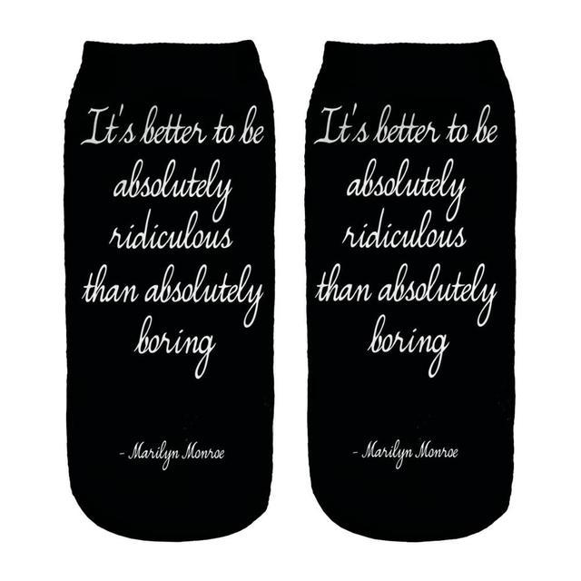 Nadanbao brand socks men new design ankle fuzzy socks English alphabet custom print socks
