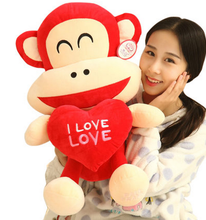 2016 China Wholesale Stuffed Animal Customized Promotion Gift Plush Monkey Toy For Valentine