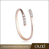 High End Jewelry Wholesale OUXI Design Ladies Gold Finger Ring