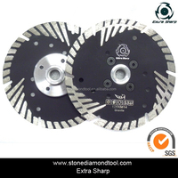 Protective Teeth Cutting Turbo Granite Saw Blade