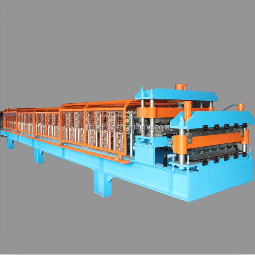 double deck color coated steel sheet roof and wall panel cold rolling machine