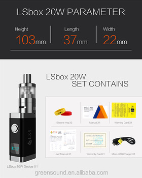 e cigarette electronic LSbox 20W Ceramic vaping box Gravity Sensor Adjustment box mod