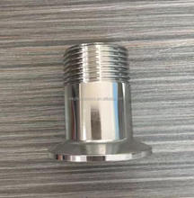 SS304/316L sanitary clamped/male/threade NPT/BSP ferrule joint adapter