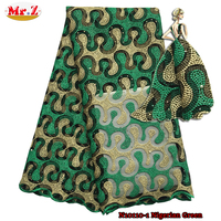 Mr.Z Beads And Stones Wedding African Lace Fabric Green In Lace N10110