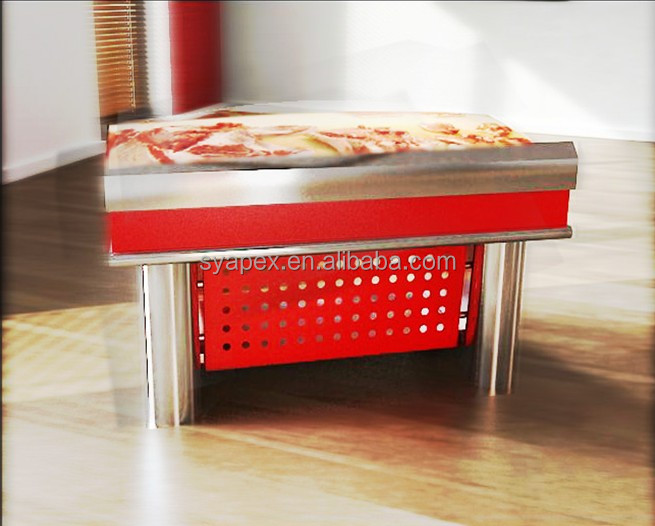 APEX custom make supermarket camel meat cutting table