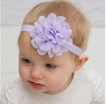 fabric flower baby headbands