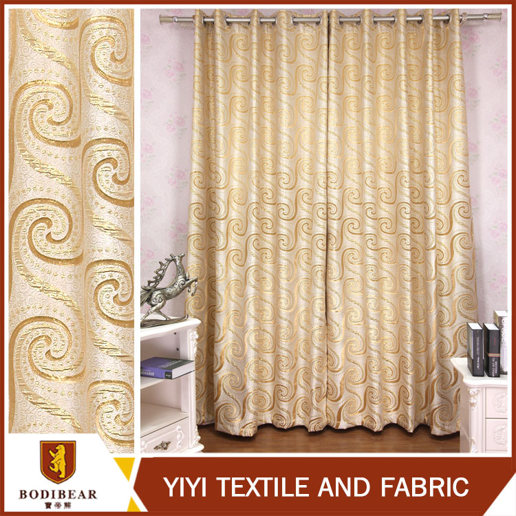 Top selling Free Sample Ready made luxury wholesale Jacquard curtain