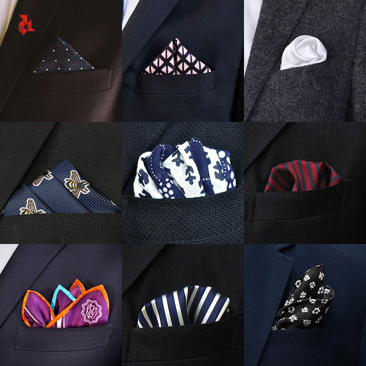 Custom Mens Silk Printed Pocket Squares