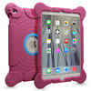 Rose red shook resistant silicone case for ipad, for ipad air silicone case cover in high quality