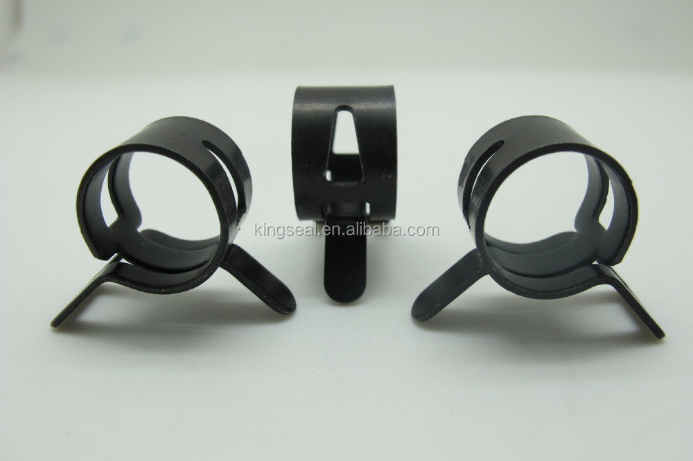 Spring steel round tube clamp plastic hose clips