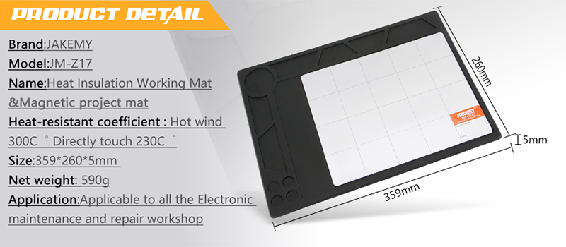 New arrival made by super soft silicone material magnetic board mat for computer repairing
