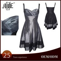 ES-2792A WHOLESALE NEW 2015 TWO-TONE TAFFETA MID LENGTH PARTY COCKTAIL DRESS