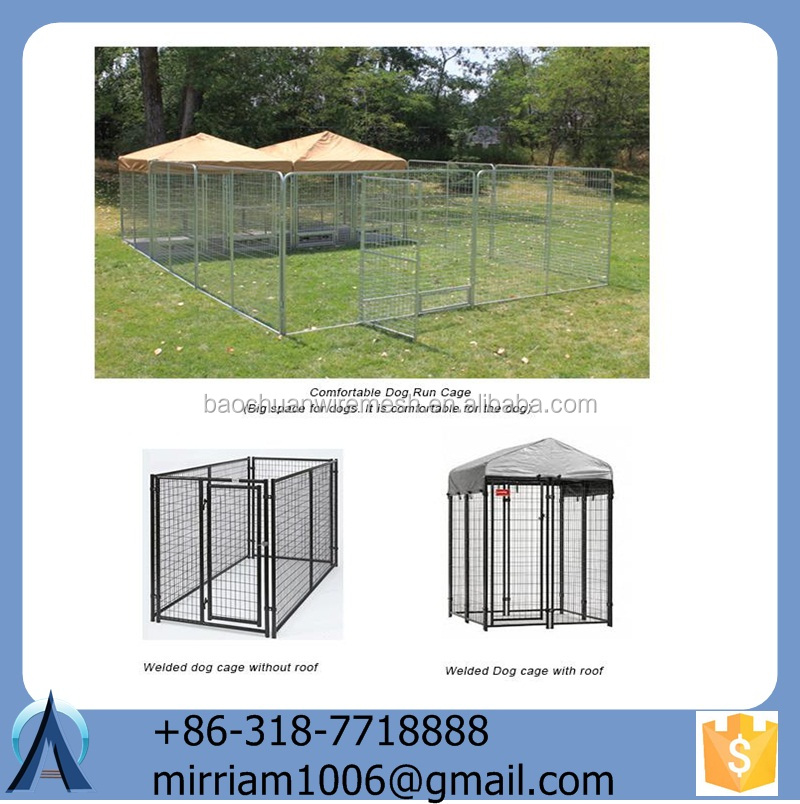 2015 Various useful customizable high quality wrought iron galvanized outdoor dog cage/kennel