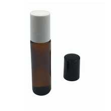 glass factory 10ml amber roll on glass bottle